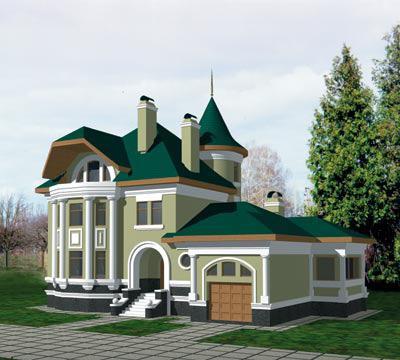Проекты загородных домов из пеноблока